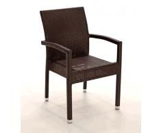 Sillon rattan chocolate Kity