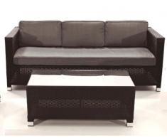 Sofa rattan 3 plazas Kenia