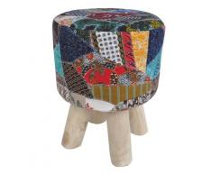 Puff reposapies teka tela patchwork