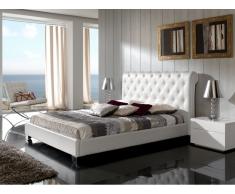 Cama tapizada blanco Nuria