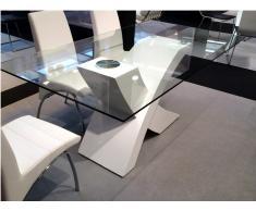 Mesa de comedor X blanco