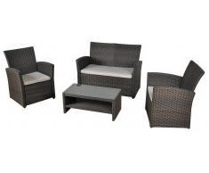 Set sofa de rattan Oliver