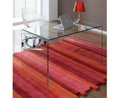 Mesa escritorio cristal curvado DT-07