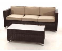 Sofa rattan 3 plazas Garbi