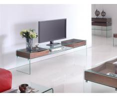 Mueble TV Walnut cristal madera