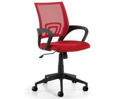 Silla operativa ergonomica easy rojo