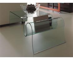 Mesa de centro cristal Ondas