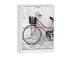 Zapatero 2 trampones Bicicleta Roja