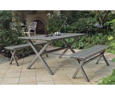 Conjunto jardin bancos y mesa Ceres