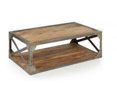 Mesa centro hierro madera factory