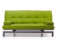 Sofa cama vintage tela verde 195