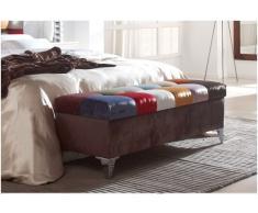 Baul pie de cama patchwork cuadros