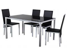 Conjunto mesa sillas Smart negro