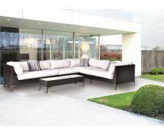 Sofa modular esquinero rattan chocolate Land