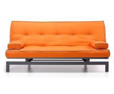 Sofa cama vintage tela naranja 195