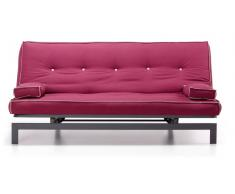 Sofa cama vintage tela vino 195