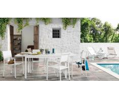 Conjunto terraza lamas alumino blanco Deia