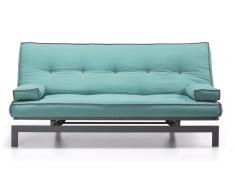 Sofa cama vintage tela turquesa 195