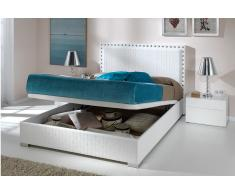 Cama abatible Manhattan Trenzado blanco