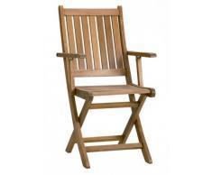 Sillon con brazos plegable madera Agatha
