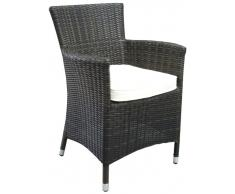 Sillon rattan chocolate Toula