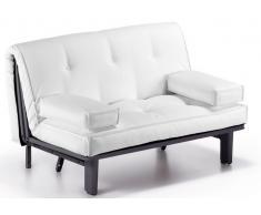 Sofa cama lua polipiel blanco 145