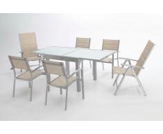 Mesa aluminio extensible Sera 90-180