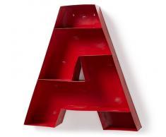 Estanteria de pared metal rojo A