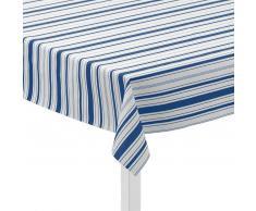 Juna Mantel de hule Urban New Stripe blanco-azul