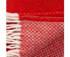 Klippan Yllefabrik Manta de lana Vega rojo