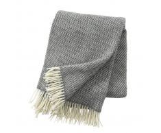Klippan Yllefabrik Manta de lana Pulse gris