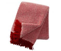 Klippan Yllefabrik Manta de lana Tango rojo-blanco