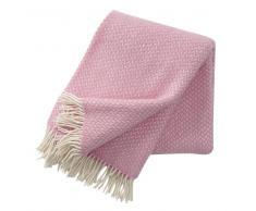 Klippan Yllefabrik Manta de lana Polka rosa