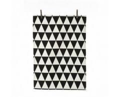 Ferm Living Paño de cocina Triangle negro