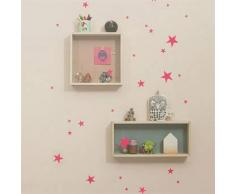 Ferm Living Vinilo decorativo pared Mini Stars neón