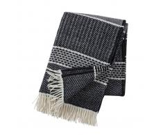Klippan Yllefabrik Manta de lana Quilt negro