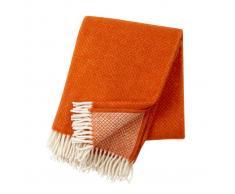 Klippan Yllefabrik Manta de lana Vega naranja teja