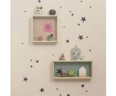Ferm Living Vinilo decorativo pared Mini Stars negro