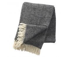 Klippan Yllefabrik Manta de lana Ralph gris oscuro