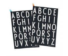 Design Letters Set de 2 paños de cocina Design Letters set de 2, negro-blanco