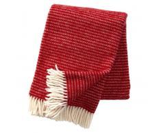 Klippan Yllefabrik Manta de lana Ralph rojo