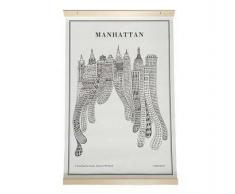 Olle Eksell Póster de lienzo Manhattan 40 x 60 cm