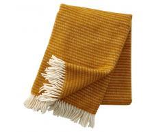 Klippan Yllefabrik Manta de lana Ralph amarillo mostaza
