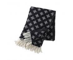 Klippan Yllefabrik Manta de lana Cross negro