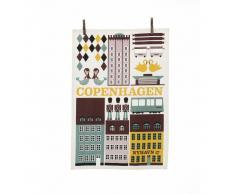 Ferm Living Paño de cocina Copenhagen multi