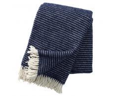 Klippan Yllefabrik Manta de lana Ralph azul marino