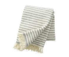 Klippan Yllefabrik Manta de lana Olle gris claro