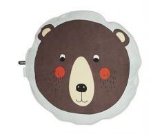 OYOY Cojín infantil OYOY Bear, marrón-gris