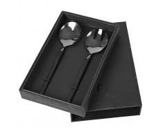 Broste Copenhagen Cubiertos ensalada Tvis 2 piezas, negro