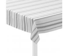 Juna Mantel de hule Urban New Stripe blanco-gris claro